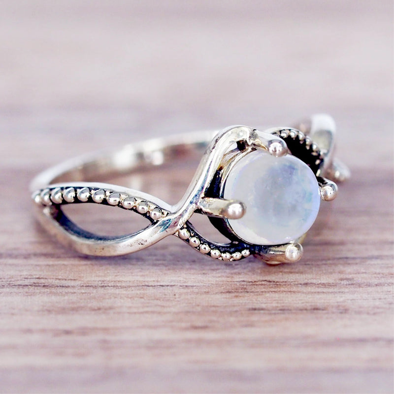 Moonstone Vine Ring - Women's Jewellery - Indie and Harper
