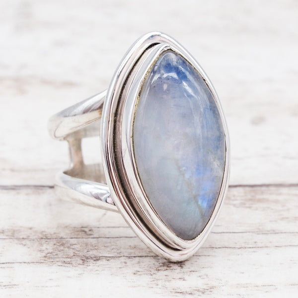 Moonstone Double Band Ring - Indie and Harper. Bohemian Gypsy Festival Jewellery. www.indieandharper.com