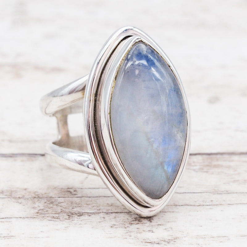 Moonstone Double Band Ring