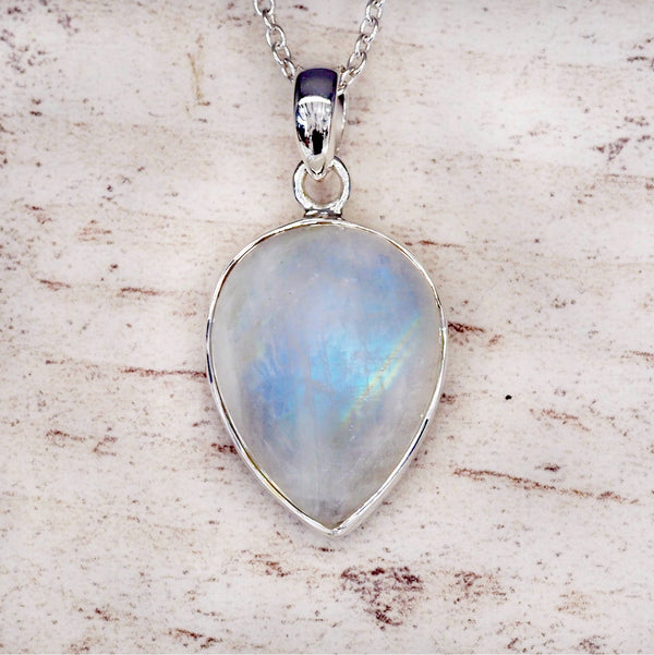Moonstone Pendant Necklace. Bohemian Jewellery. Indie and Harper