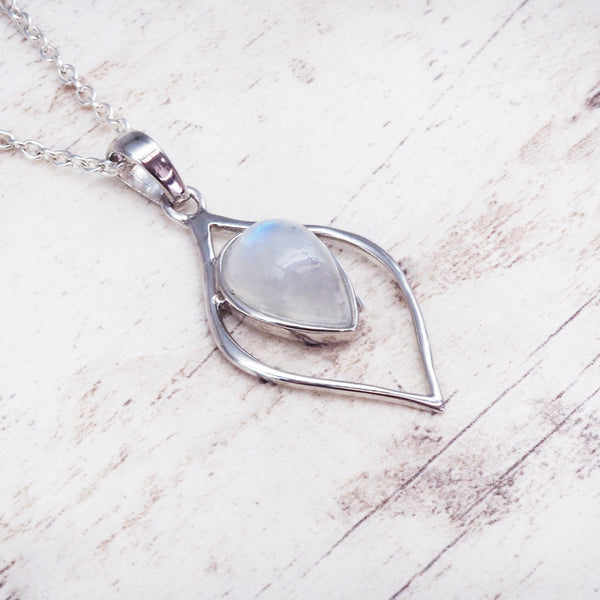 Moonstone Petal Necklace. Bohemian Jewellery. Indie and Harper