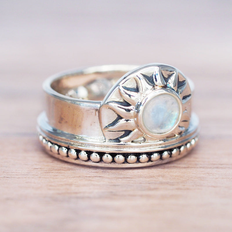 Moonstone Sunrise Ring