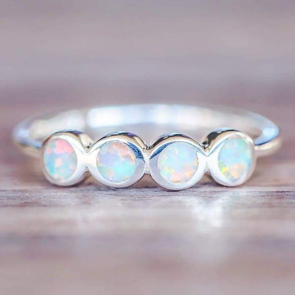 Multi Opal Ring. Bohemian Jewellery. Indie and Harper