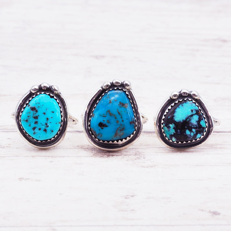 Native Navajo Turquoise Ring - Women's Jewellery - Indie and Harper