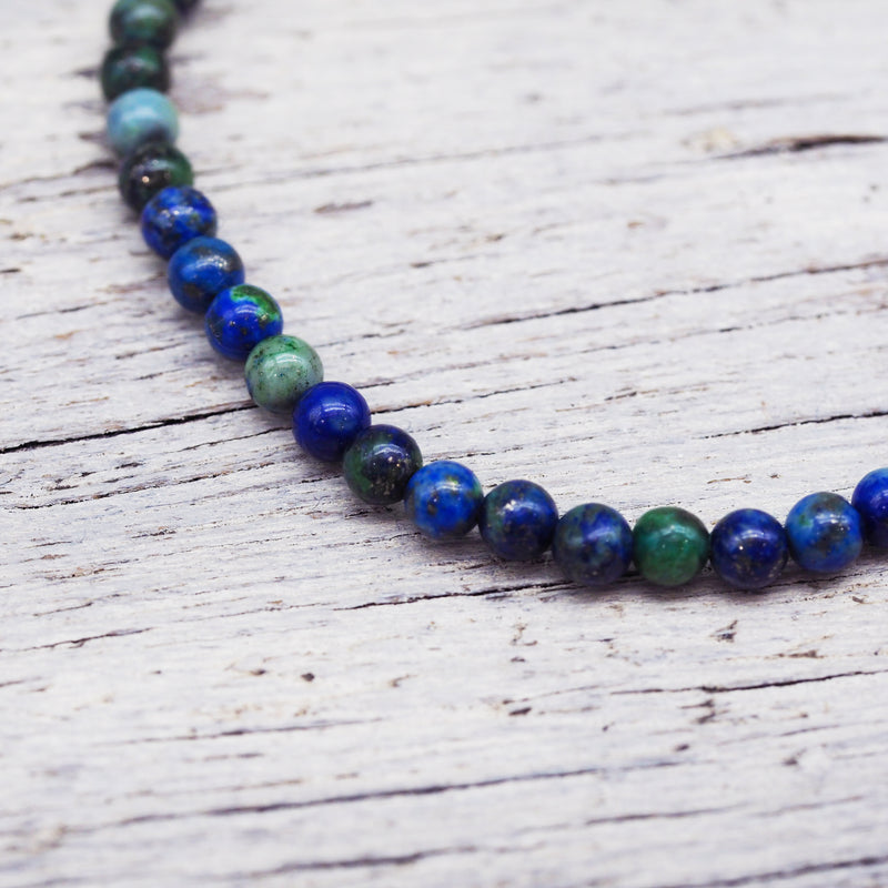Natural Beaded Bracelet - Lapis Lazuli. Women's Jewellery. Indie and Harper