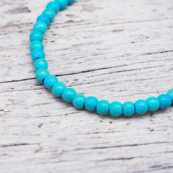 Natural Beaded Bracelet - Turquoise. Women's Jewellery. Indie and Harper