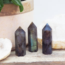 Natural Labradorite Point Crystal. Bohemian Jewellery. Indie and Harper