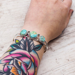 Navajo Turquoise Cuff. Bohemian Jewellery. Indie and Harper