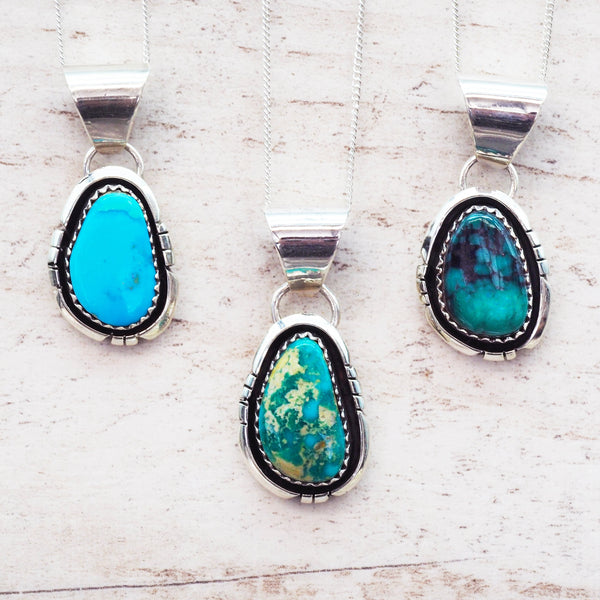 Navajo Turquoise Pendant Necklace. Women's Jewellery. Indie and Harper