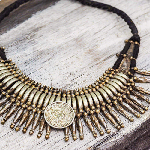 Nepalese Vintage Tharu Necklace | Bohemian Gypsy Festival Jewels | Indie and Harper