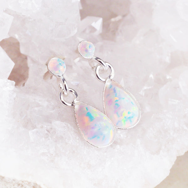 Opal Drop Earrings - Women's Jewellery - Indie and Harper