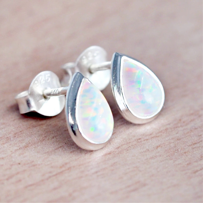 Opal Droplet Earrings - Women's Jewellery - Indie and Harper