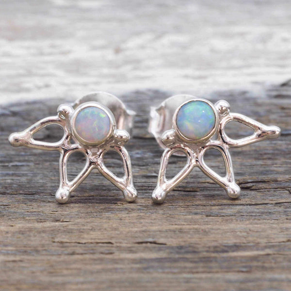 Opal Lotus Earrings - Indie and Harper. Bohemian Gypsy Festival Jewellery. www.indieandharper.com