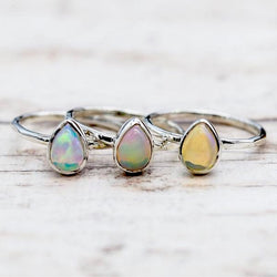 Opal Ring. Bohemian Jewellery. Indie and Harper