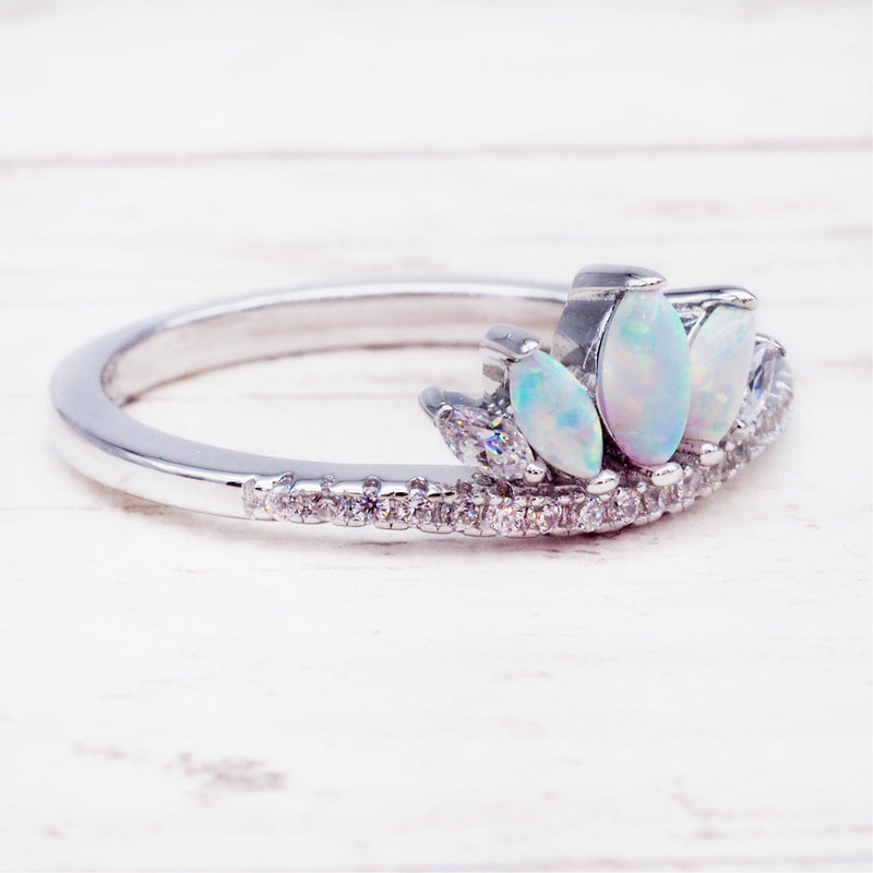 Opal Windsor Ring. Bohemian Jewellery. Indie and Harper