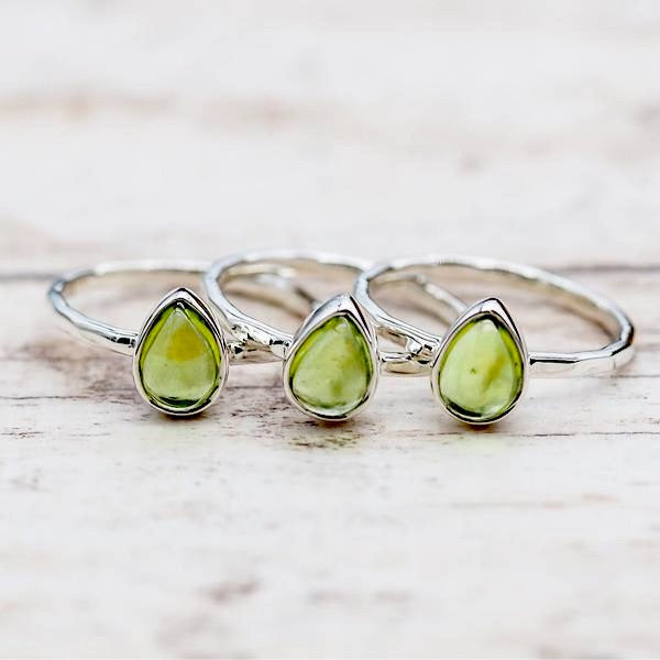 Peridot Ring. Bohemian Jewellery. Indie and Harper