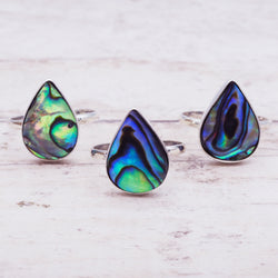 Rain Drop Paua Shell Ring - Women's Jewellery - Indie and Harper
