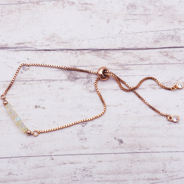 Rose Gold Multi Opal Bracelet - Women's Jewellery - Indie and Harper