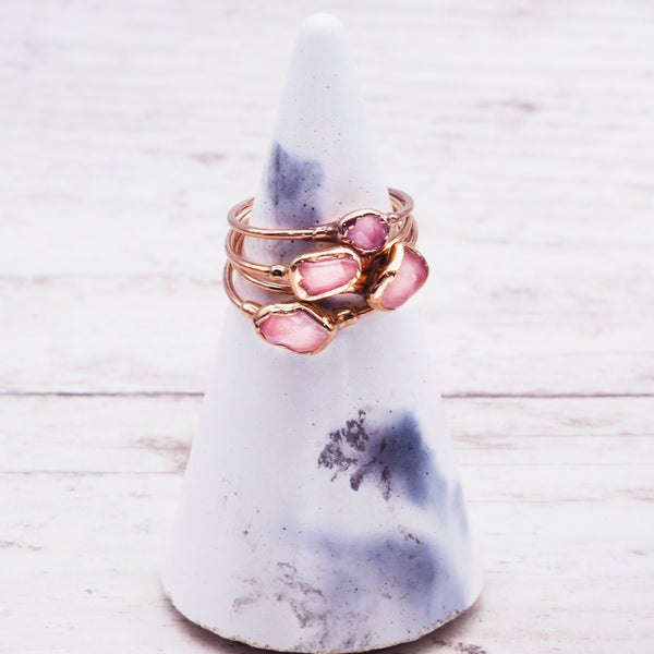 Rose Gold Rose Quartz Ring - Women's Jewellery - Indie and Harper
