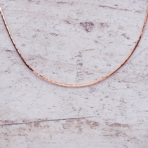 Rose Gold Snake Chain Necklace - Women's Jewellery - Indie and Harper
