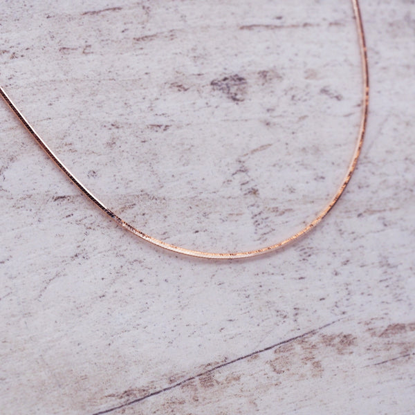 Rose Gold Snake Chain Necklace