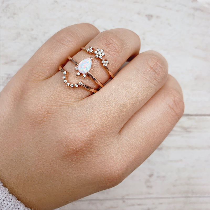 Rose Gold 'Apus' Ring. Bohemian Jewellery. Indie and Harper