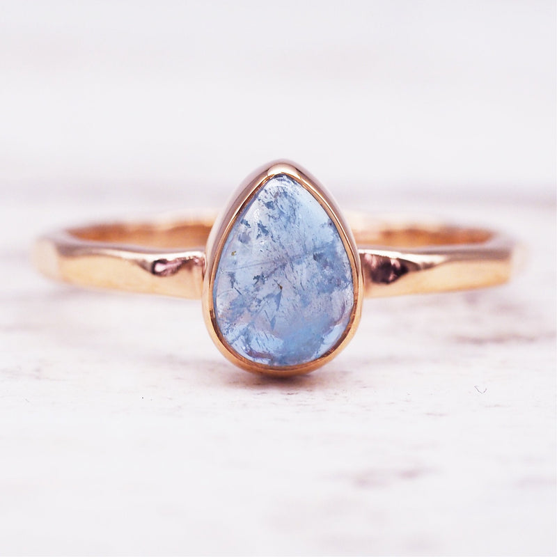 Rose Gold Aquamarine Ring. Women's Jewellery. Indie and Harper
