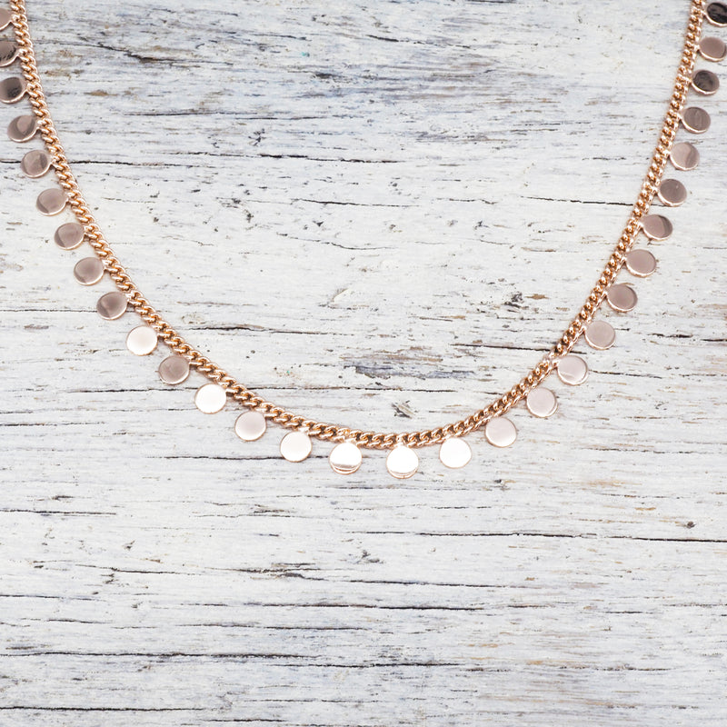 Rose Gold Full Moon Choker. Bohemian Jewellery. Indie and Harper