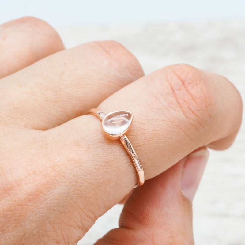 Rose Gold Herkimer Ring