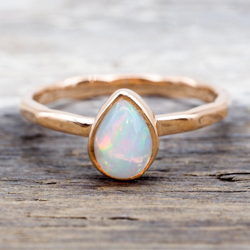 Rose Gold Opal Ring. Bohemian Jewellery. Indie and Harper