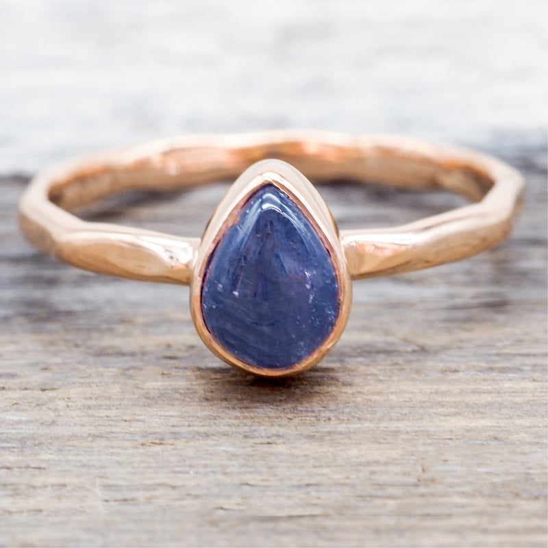 Rose Gold Sapphire Ring. Bohemian Jewellery. Indie and Harper