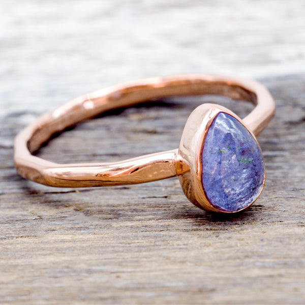 Rose Gold Tanzanite Ring. Bohemian Jewellery. Indie and Harper