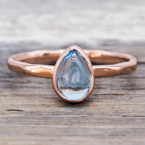 Rose Gold Topaz Ring. Bohemian Jewellery. Indie and Harper