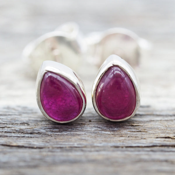 Ruby Earrings. Bohemian Jewellery. Indie and Harper