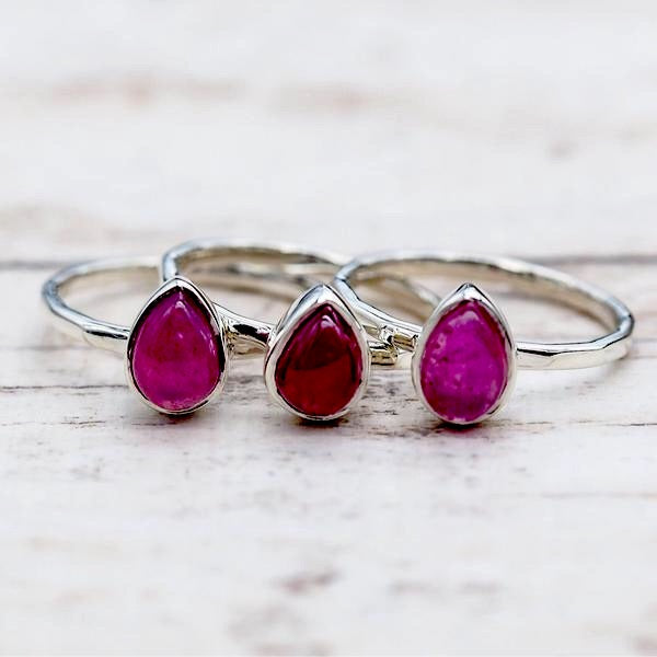 Ruby Ring. Bohemian Jewellery. Indie and Harper