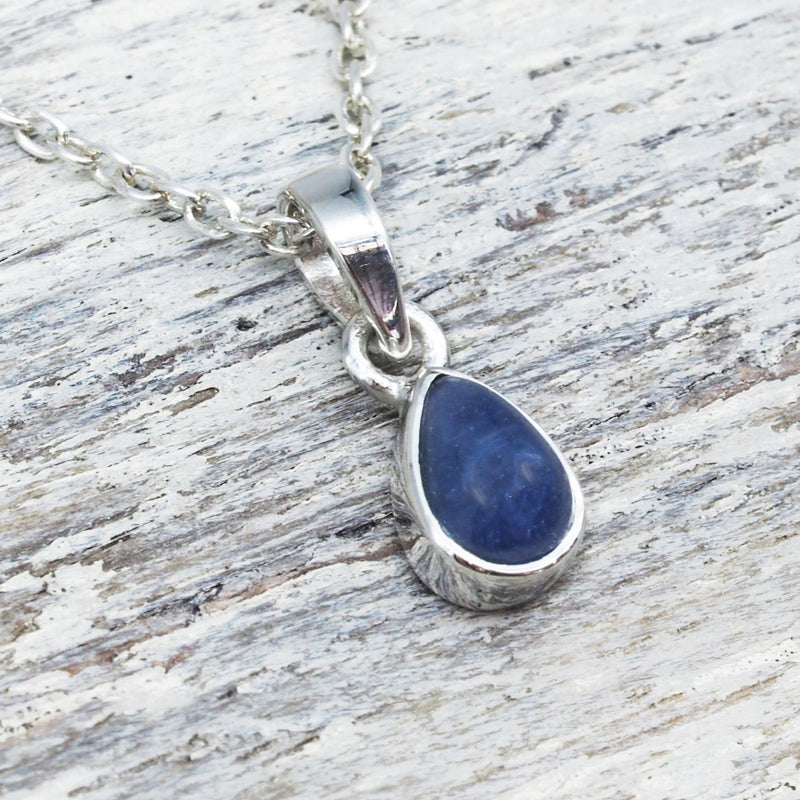 Sapphire Pendant Necklace. Bohemian Jewellery. Indie and Harper