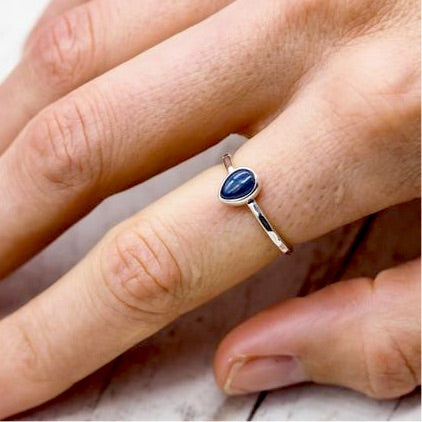Sapphire Ring. Bohemian Jewellery. Indie and Harper