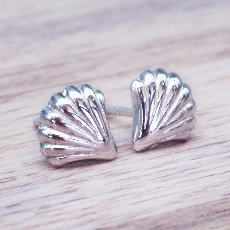 Sea Shell Studs - Women's Jewellery - Indie and Harper