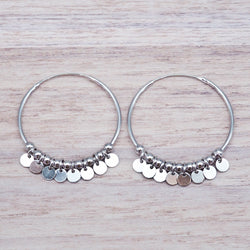 Silver Celestial Hoops. Women's Jewellery. Indie and Harper