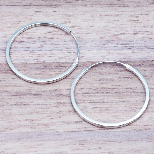 Silver Hoop Earrings - Women's Jewellery - Indie and Harper