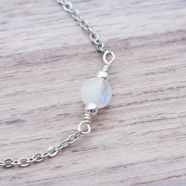 Silver Moonstone Bracelet - Women's Jewellery - Indie and Harper