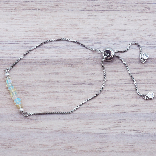 Silver Multi Opal Bracelet - Women's Jewellery - Indie and Harper