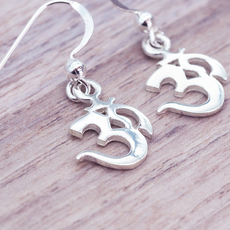 Silver Ohm Earrings - Women's Jewellery - Indie and Harper