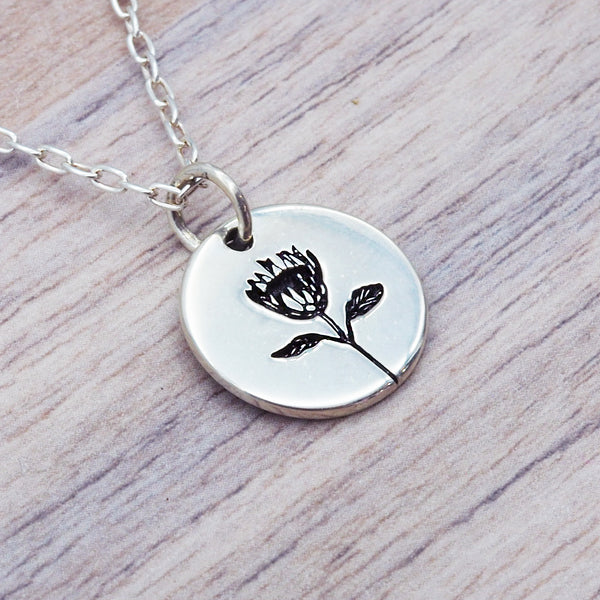 Silver Waratah Pendant - Women's Jewellery - Indie and Harper