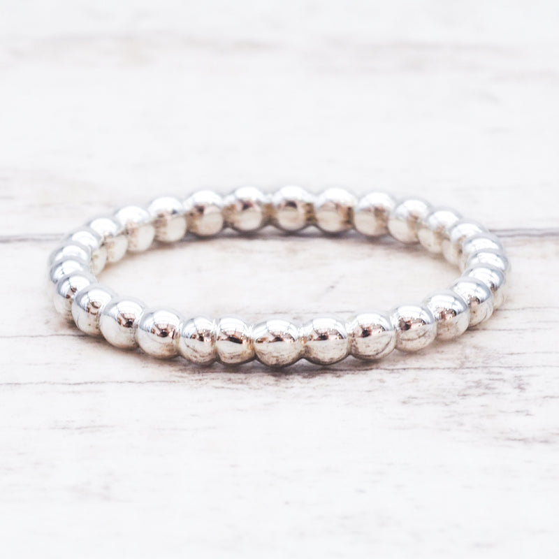 Silver Beaded Band Ring. Bohemian Jewellery. Indie and Harper