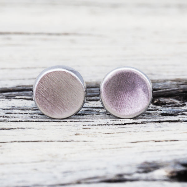 Silver Disc Earrings. Bohemian Jewellery. Indie and Harper