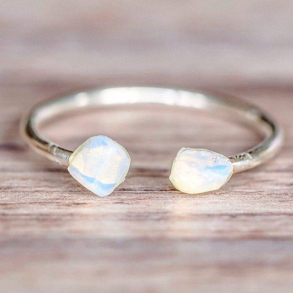 Silver Little Raw Opal Ring - Indie and Harper. Bohemian Gypsy Festival Jewellery. www.indieandharper.com