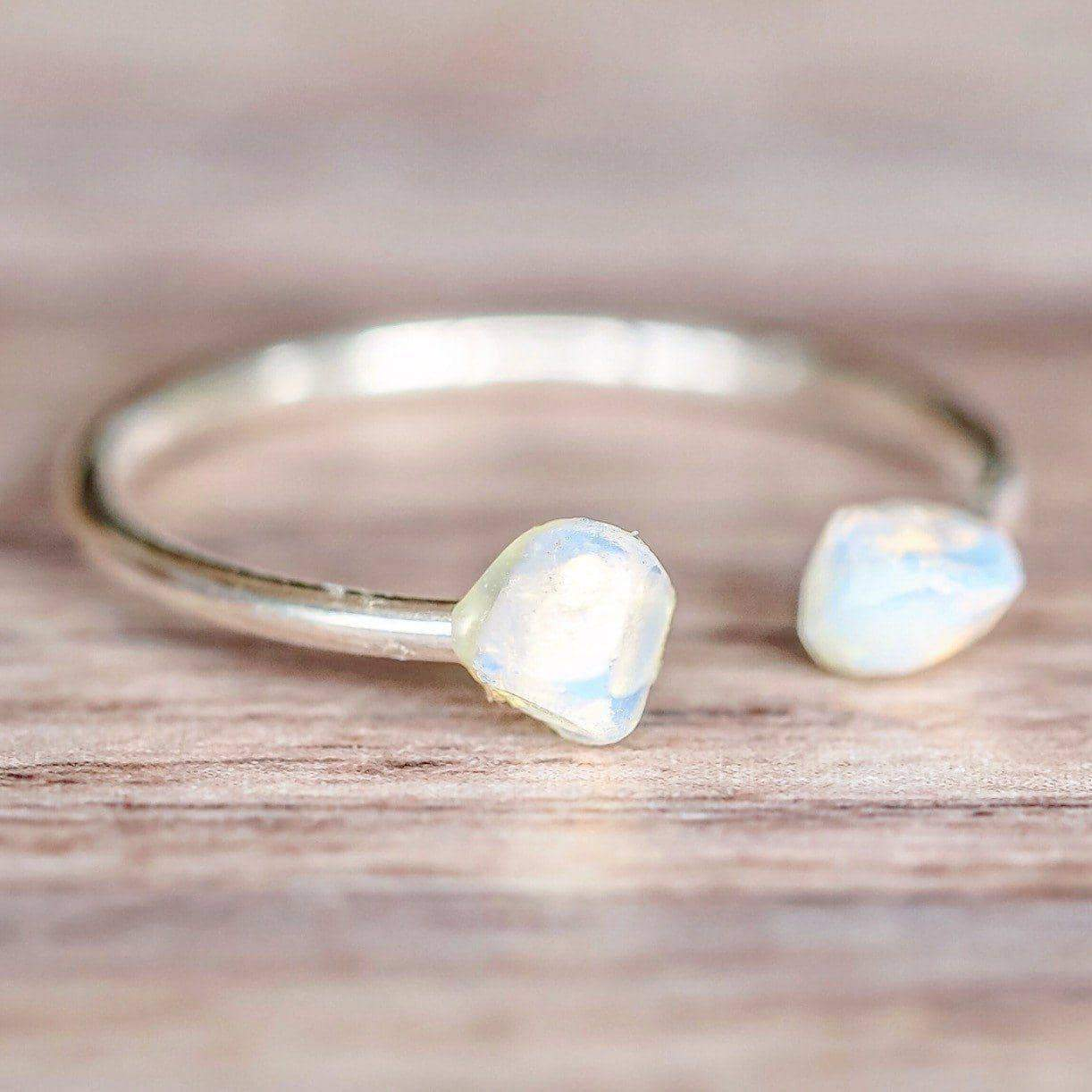 Silver Little Raw Opal Ring | Bohemian Gypsy Festival Jewellery | Indie and Harper