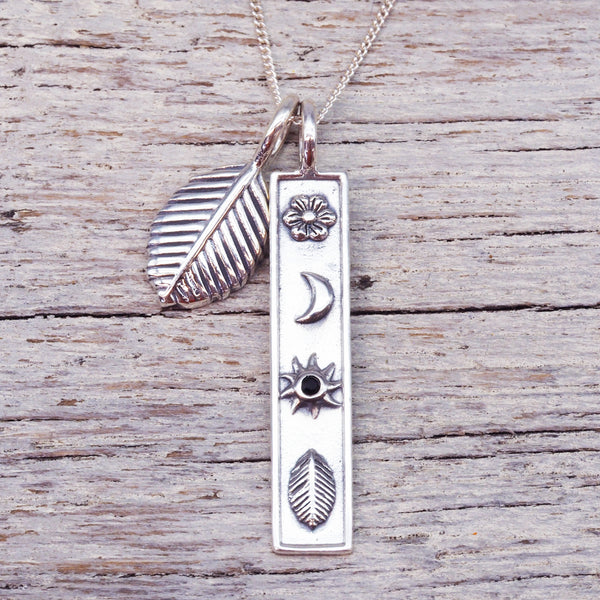 Silver Mystic Necklace. Bohemian Jewellery. Indie and Harper