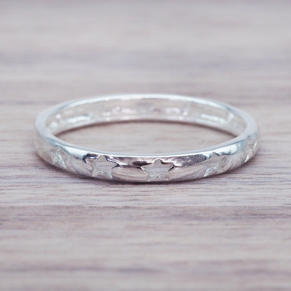 Silver Star Ring. Bohemian Jewellery. Indie and Harper
